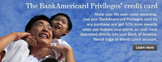 bank of america credit card login sitekey
